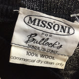 Vintage 80s MISSONI Ostrich Knit Pullover, label