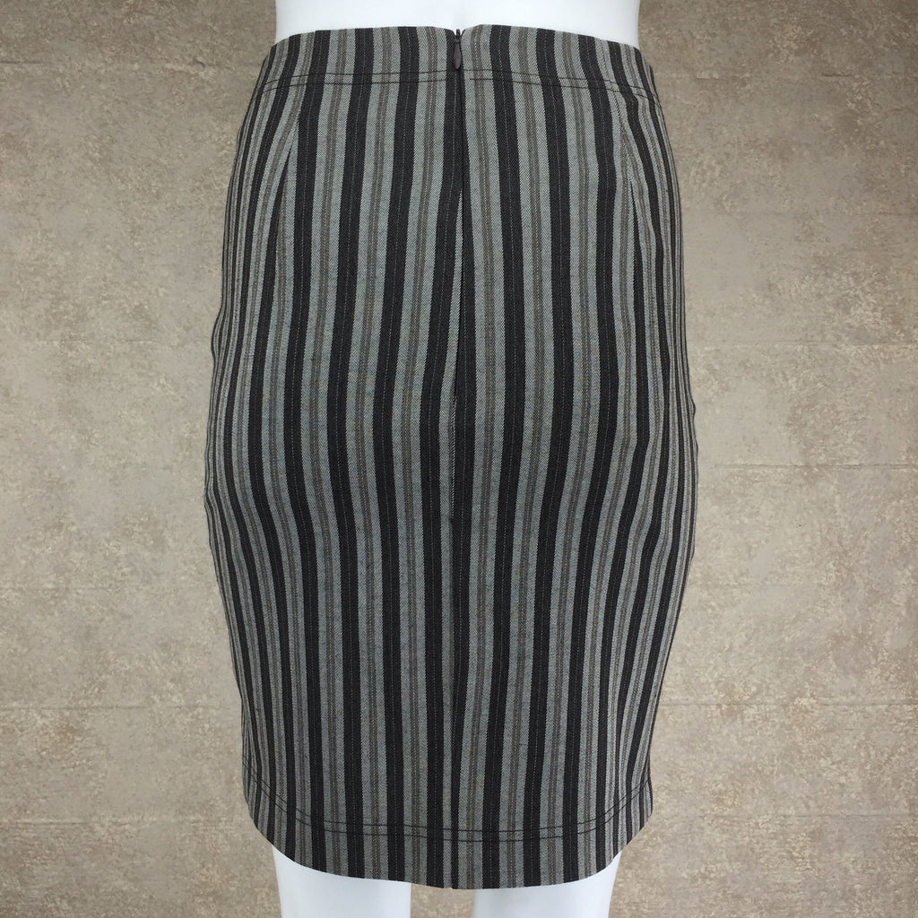 Vintage 90s COMPLICE Striped Body Con Skirt, Back