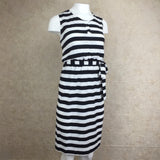 2000s Cotton Striped Dress, Side