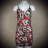 2000s Solid Sequin Playing Cards Tank Dress SOLD