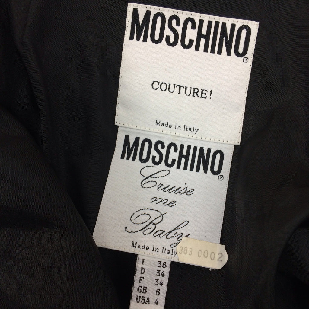 Vintage 90s MOSCHINO COUTURE Short Crepe Skirt, Label