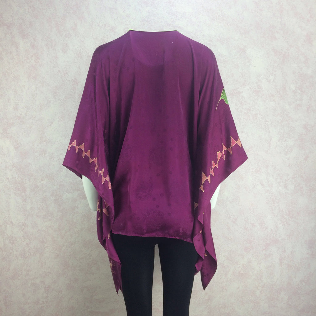 Vintage 80s Silk Hand Painted Top, back