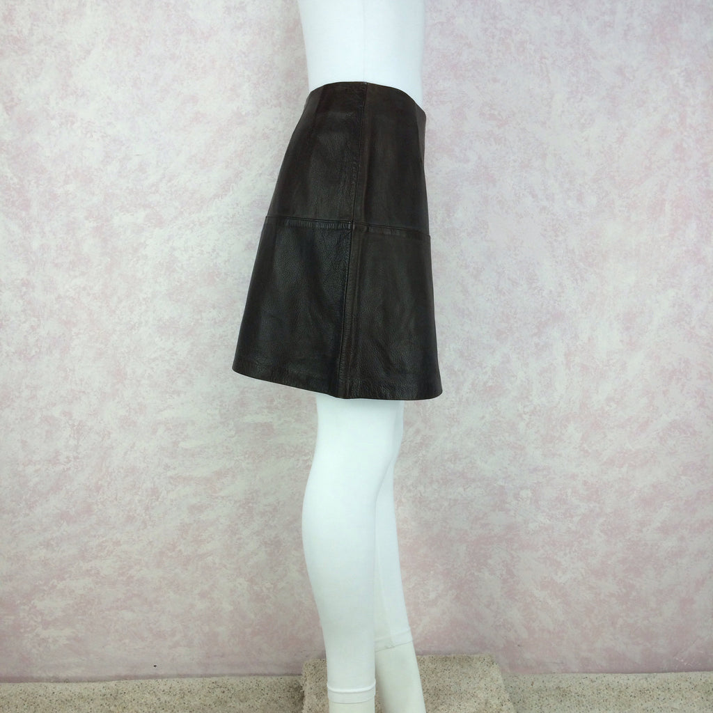 Vintage 90s VITTADINI Leather Skirt, Side 2