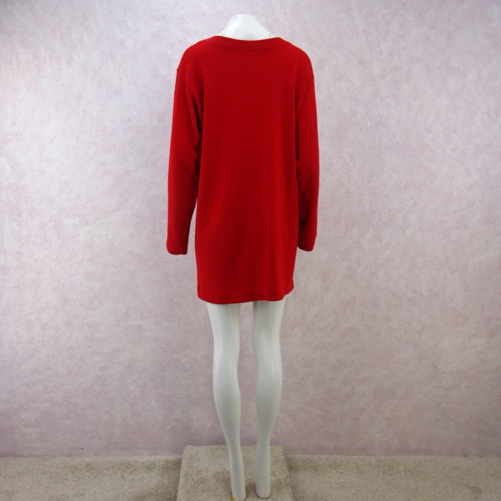 2000s Cashmere Dress / Tunic w/ Hip Slit Pockets, NOSb