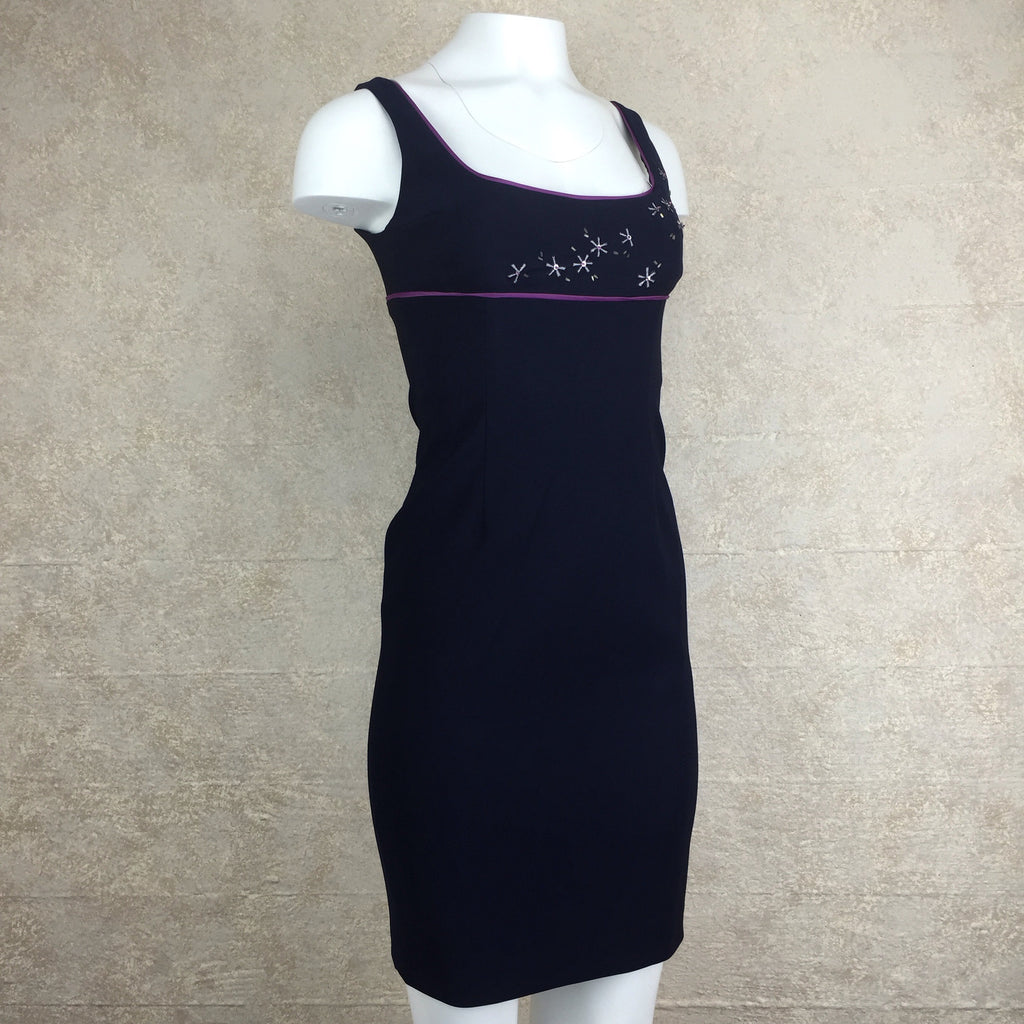 2000s LAUNDRY Sheath Dress w/Starburst Bodice, Side