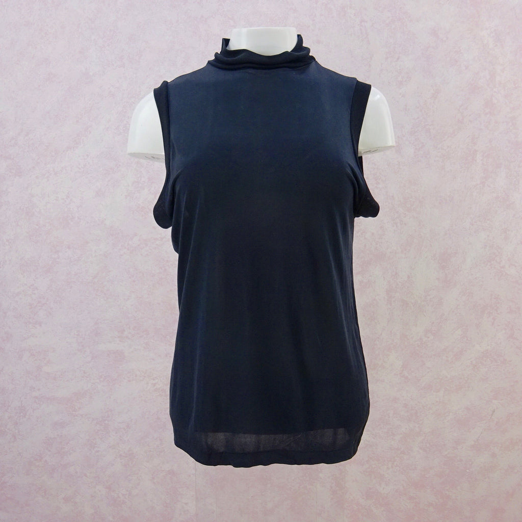 2000 DEAN SILK High Collar Silk Jersey Tank Top, f