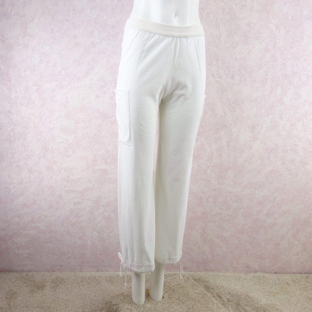 2000s SONIA RYKIEL White Cotton Sweat Pants f