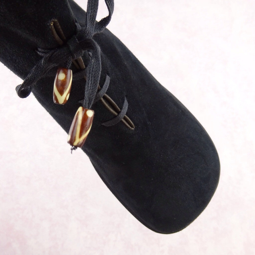2000s Short Suede Boots w/Lace-Up  dess