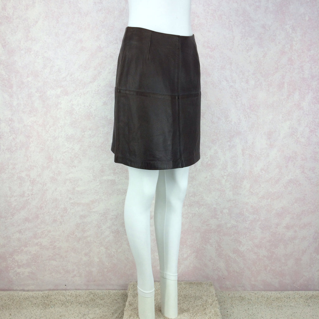 Vintage 90s VITTADINI Leather Skirt, Side