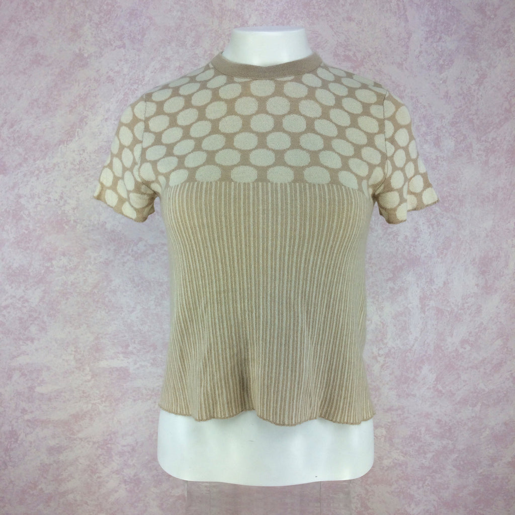2000s BILL BLASS Cashmere Blend Twinset, Front top