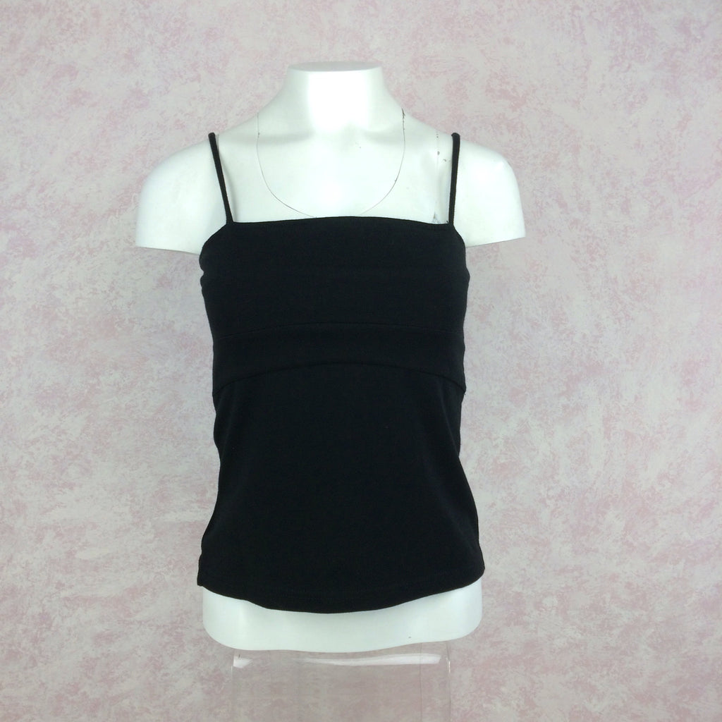 2000s GIANNA black tank camisole front