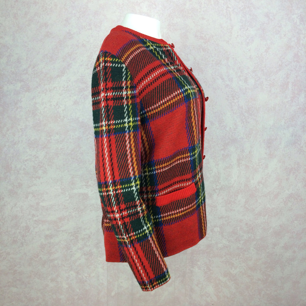 2000s BILL BLASS USA Red Plaid Twin Set, Side 2