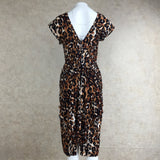 Vintage 90s Leopard Print Stretch Dress, Back