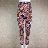 Vintage 50s Printed Wool Pencil Slacks, front