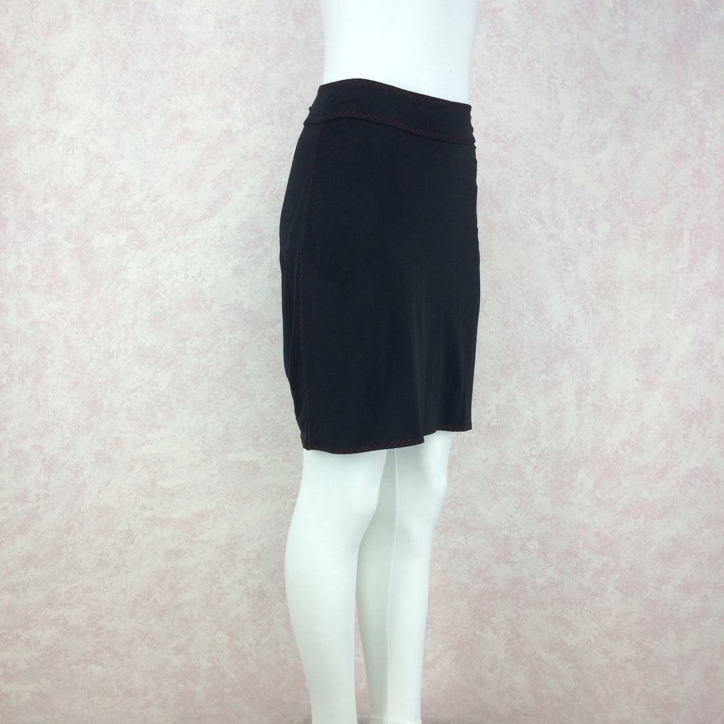 2000s Stretch Knit Body Hugging Skirt, Side