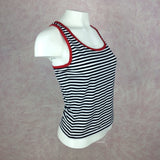 2000s DKNY Striped Tank Top w/Racer Back, Side