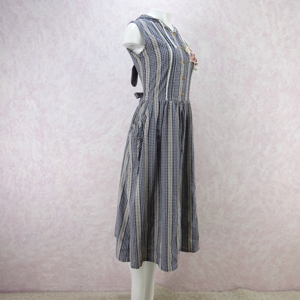 2000s Checked Country Dress w/Hoodie erw