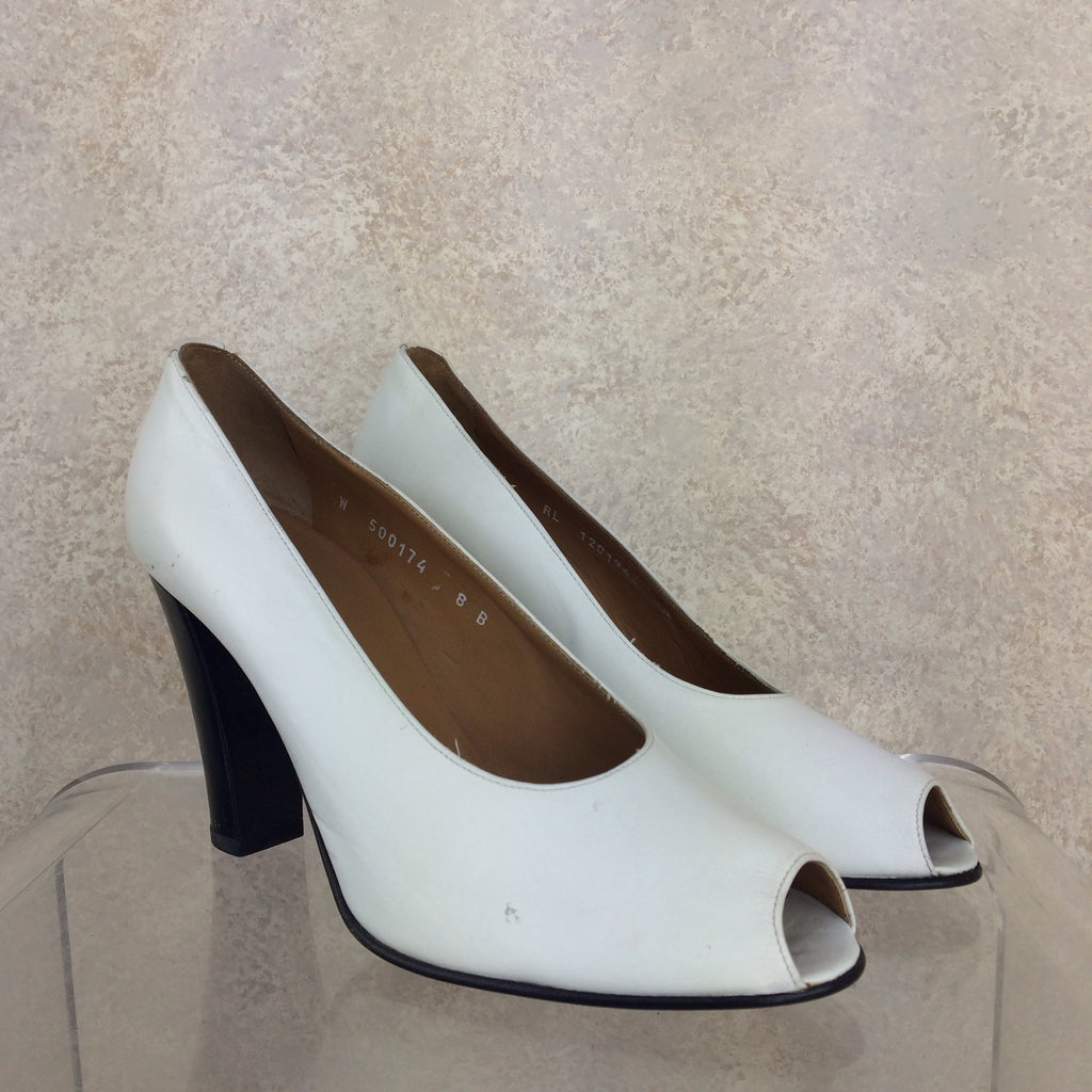 2000s RALPH LAUREN Peep Toe Pumps, Side view