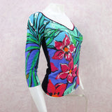 2000s ANNA MOLINARI Floral Stretch Knit Top, NOS b