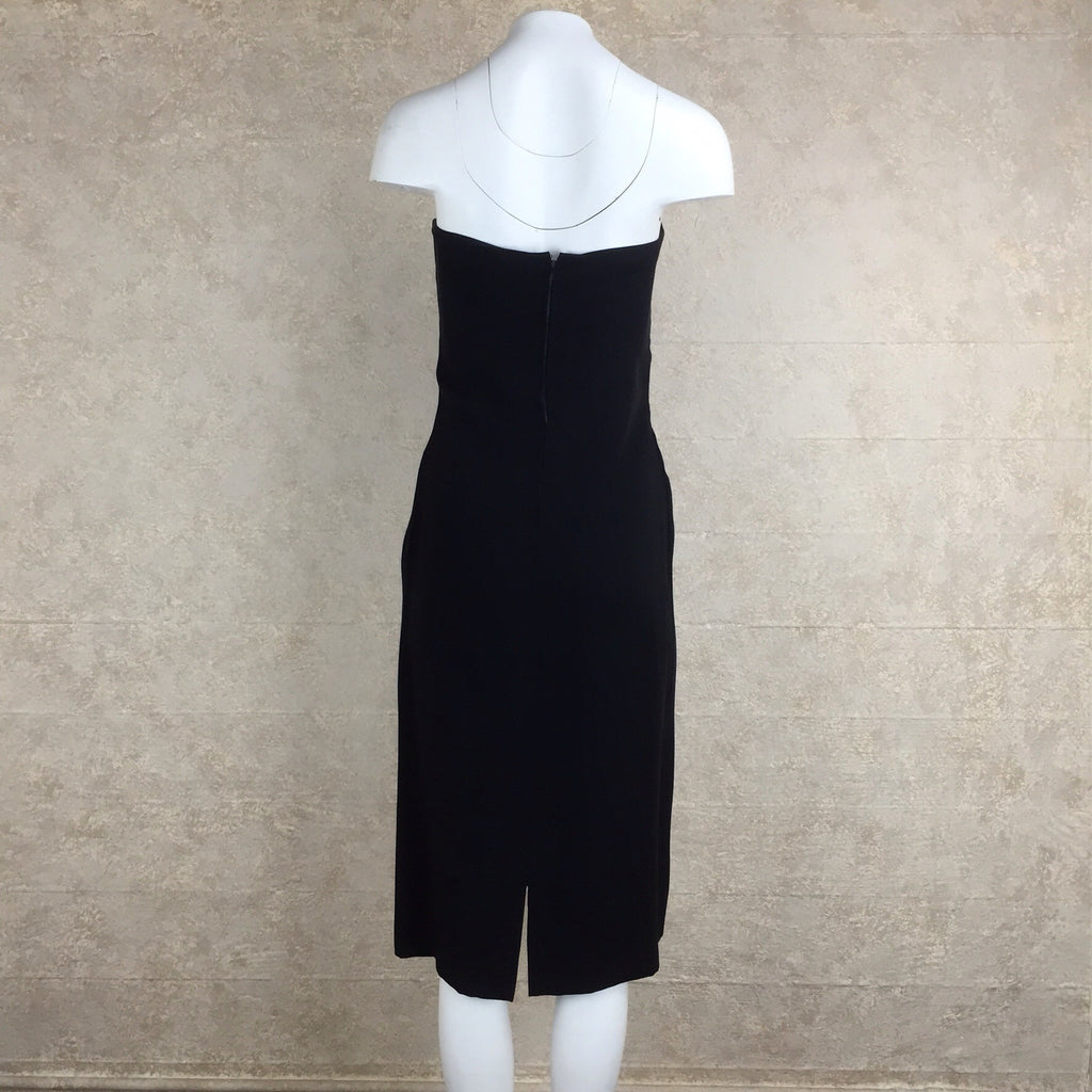 2000s Jean Louis Scherrer Black Strapless Dress back