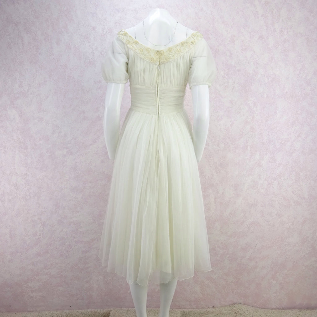 Vintage 50s Sheer Fit & Flair Dress  d