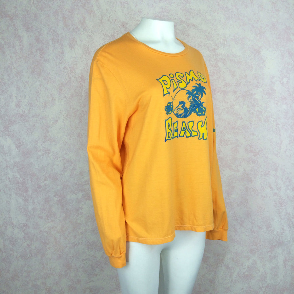 "2000s R. H. Vintage Pismo Beach"" Long Sleeve T-Shirt, Side"