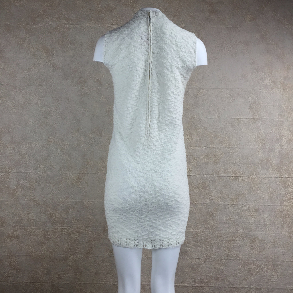 Vintage 60s Knit Bouclé Mini Dress, back