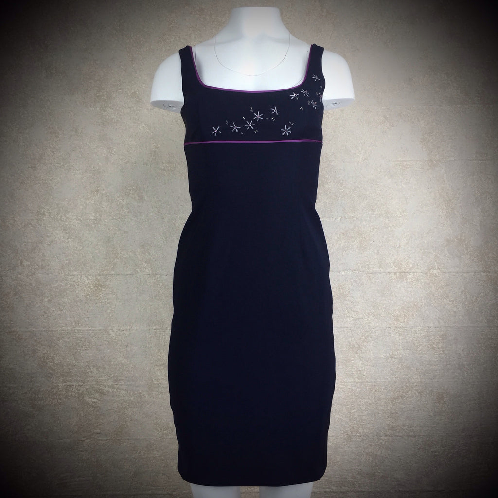 2000s LAUNDRY Sheath Dress w/ Starburst Bodice, NWT