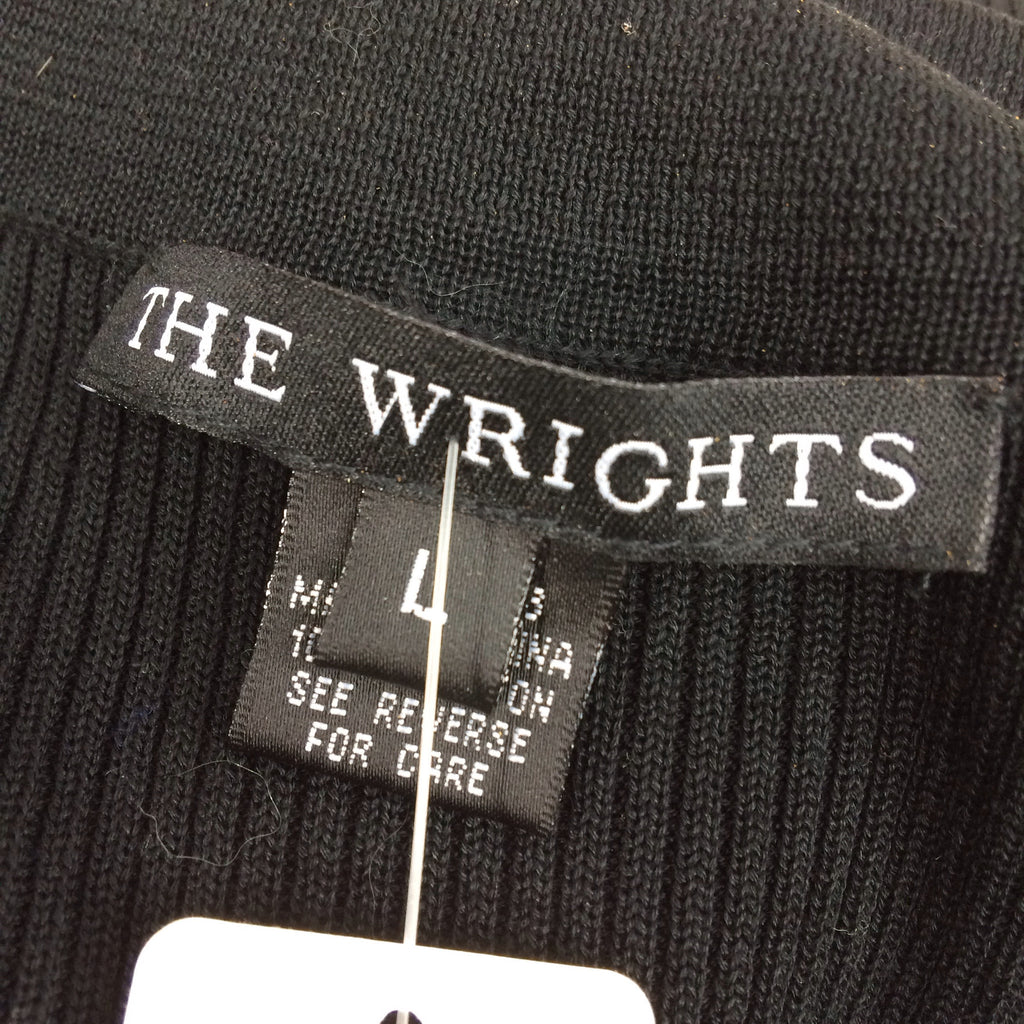 2000s THE WRIGHTS Ribbed Shell w/Ruffle Tux Front label