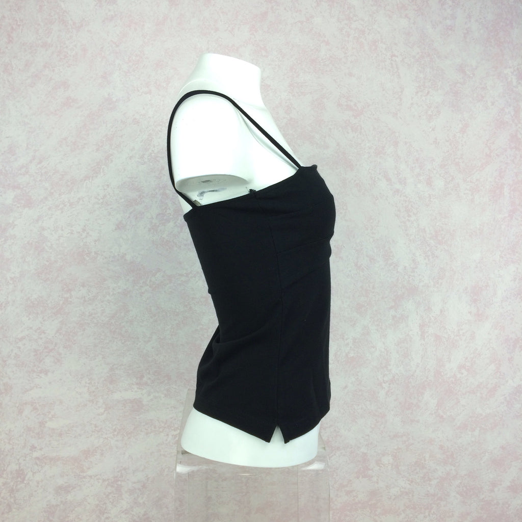 2000s GIANNA black tank camisole side 2