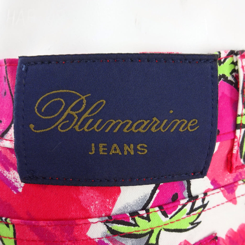 **** 2000s BLUMARINE Strawberry Print Flared Pants NWT tag