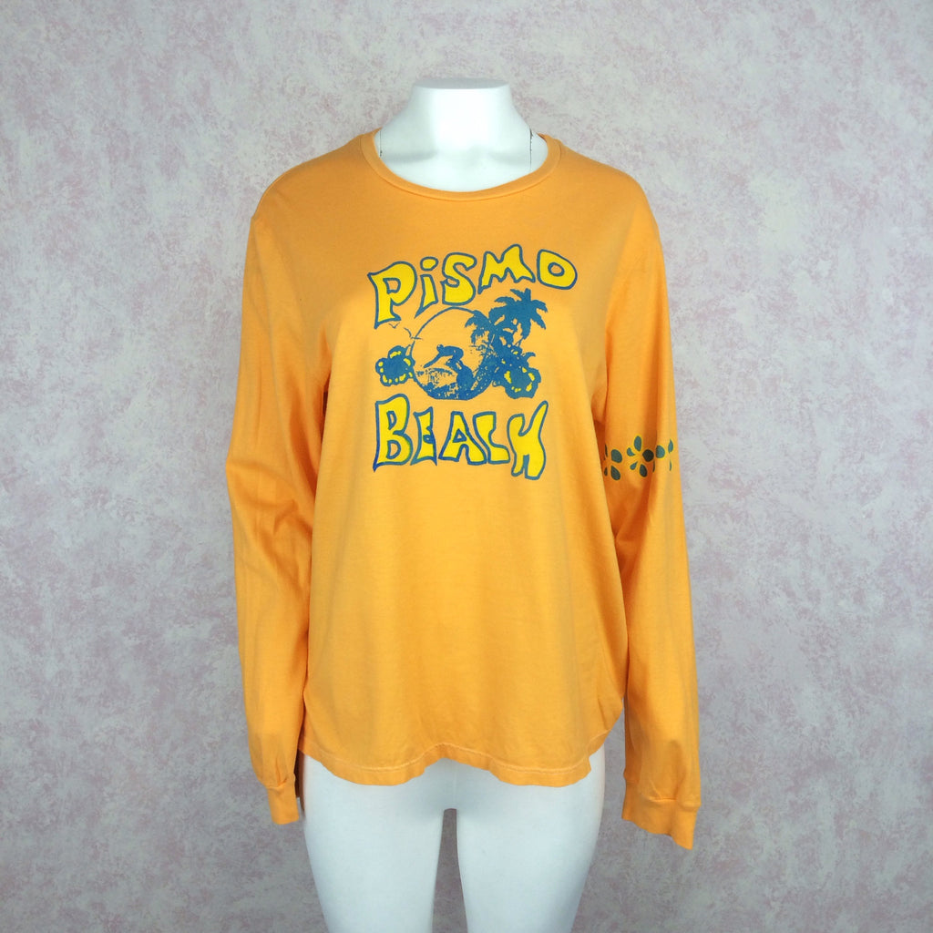 "2000s R. H. Vintage Pismo Beach"" Long Sleeve T-Shirt, Front"