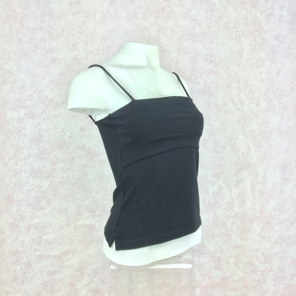 2000s GIANNA black tank camisole side
