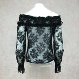 2000s BANG Lace Off-The-Shoulder Blouse, B