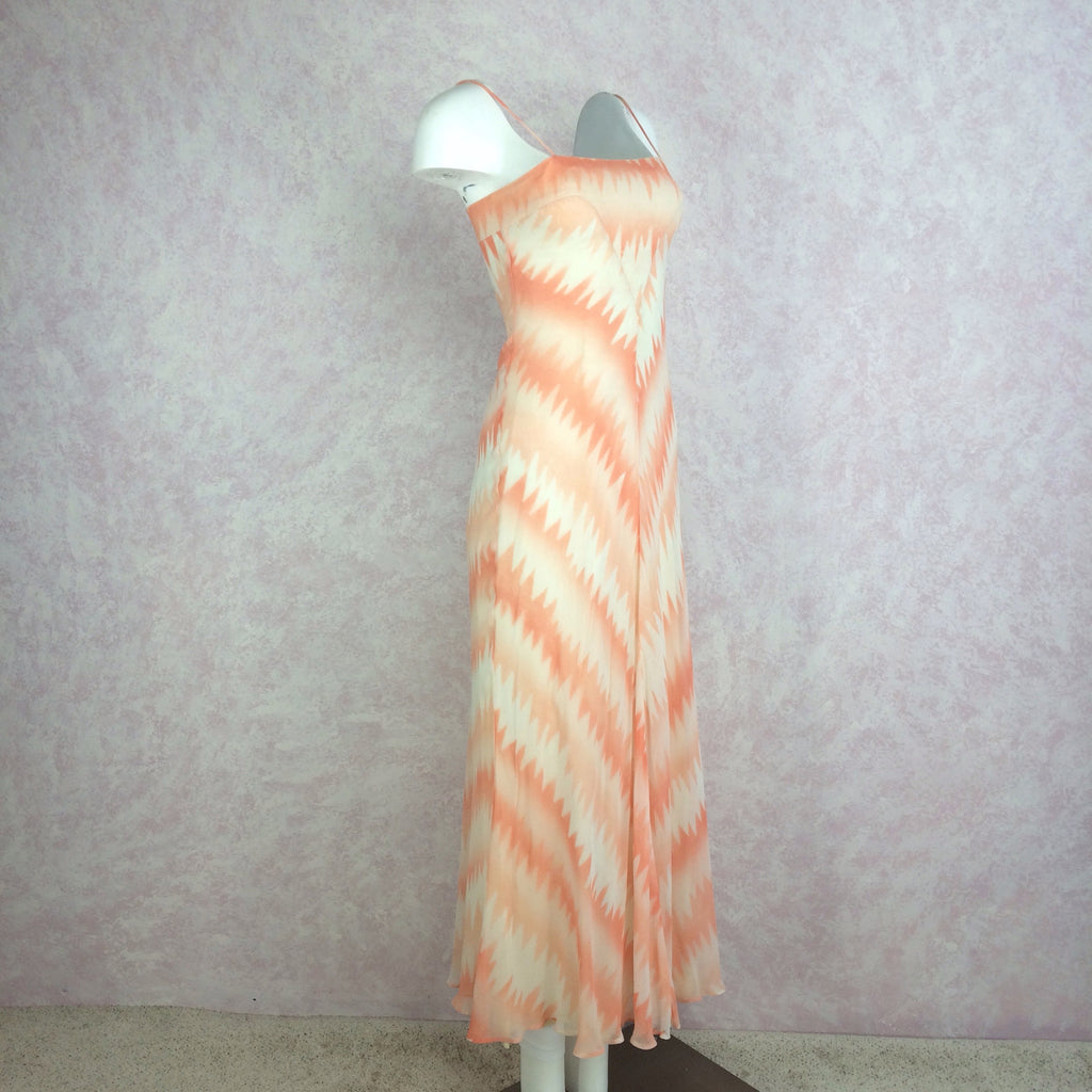 Vintage 70s Pseudo Tie Dye Maxi Dress, Side