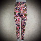 Vintage 50s Floral Printed High Waist Wool Pencil Slacks