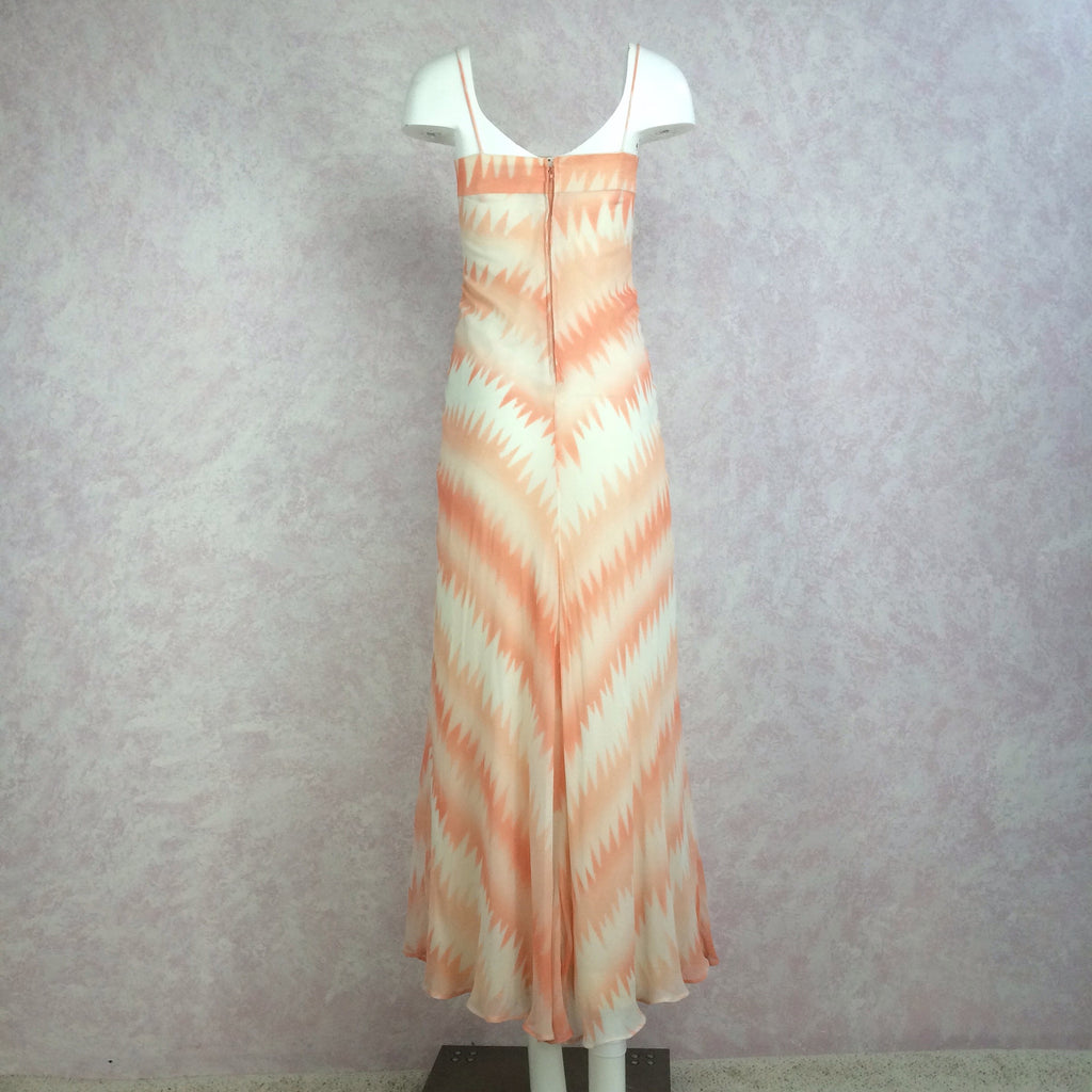 Vintage 70s Pseudo Tie Dye Maxi Dress, Back