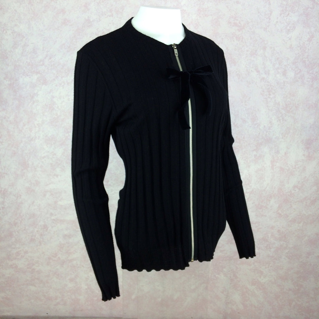 2000s BLUMARINE Knit Zip Front Sweater, NOSf
