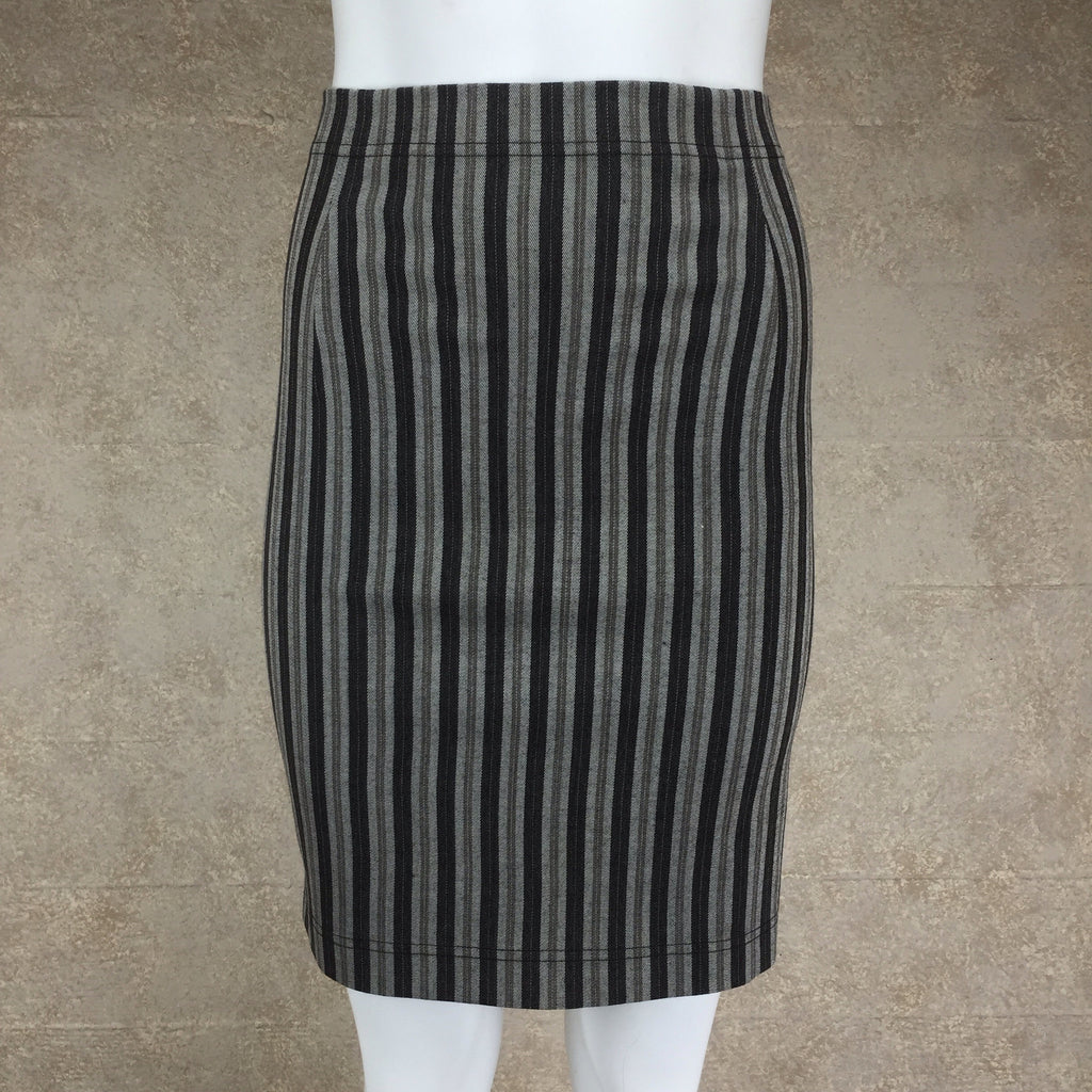 Vintage 90s COMPLICE Striped Body Con Skirt, Front