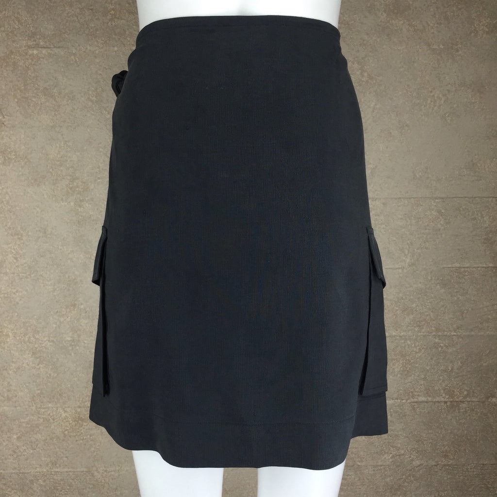 2000s TOMMY BAHAMA Silk/Linen Wrap Skirt, Back