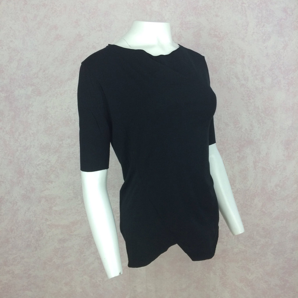 2000s GARY GRAHAM Black 3/4 Sleeve Top, NOS 3d