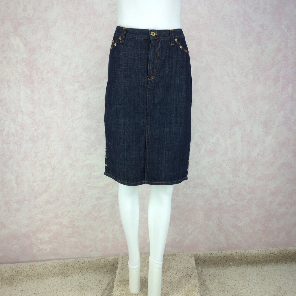 2000s D&G Denim Skirt w/Studs, Front