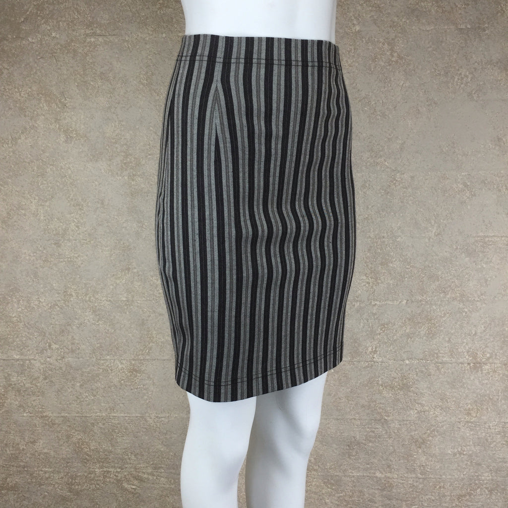 Vintage 90s COMPLICE Striped Body Con Skirt, Side