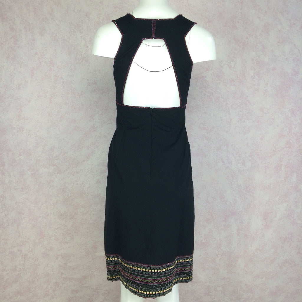 2000s BCBG Max Azria Dress w/Open Back, Back