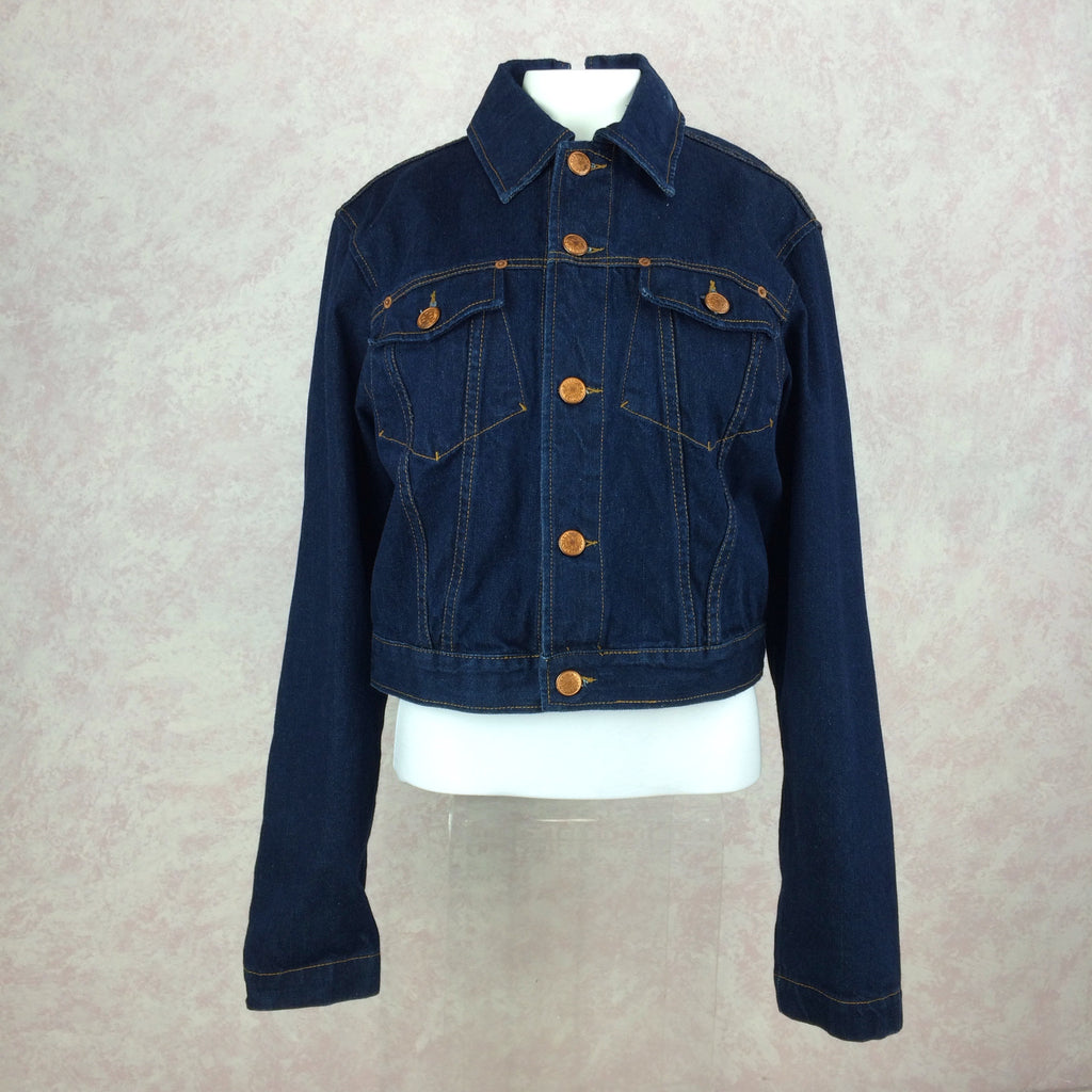 2000s GAULTIER Denim Jacket w/Zip Back front