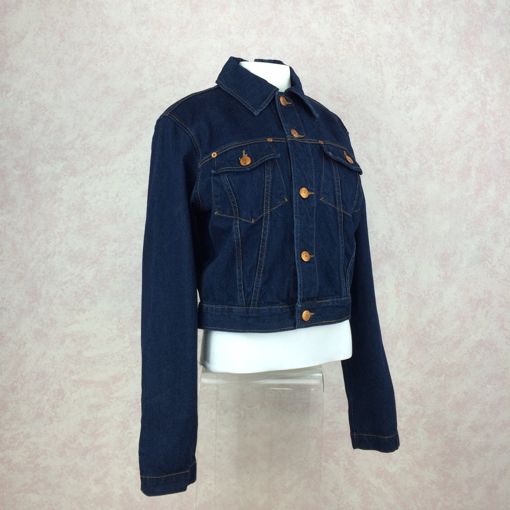 2000s GAULTIER Denim Jacket w/Zip Back side