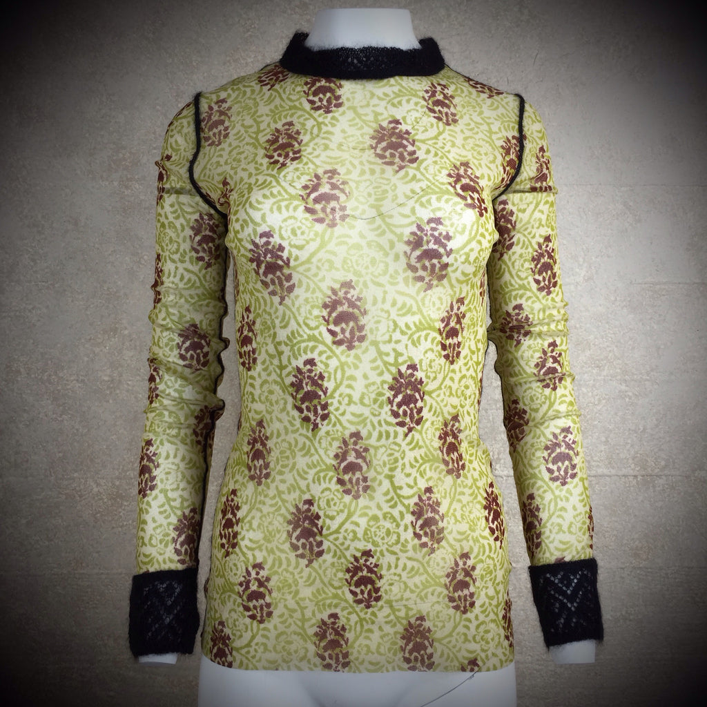 2000s GAULTIER Mesh Paisley Pattern Top, NWT