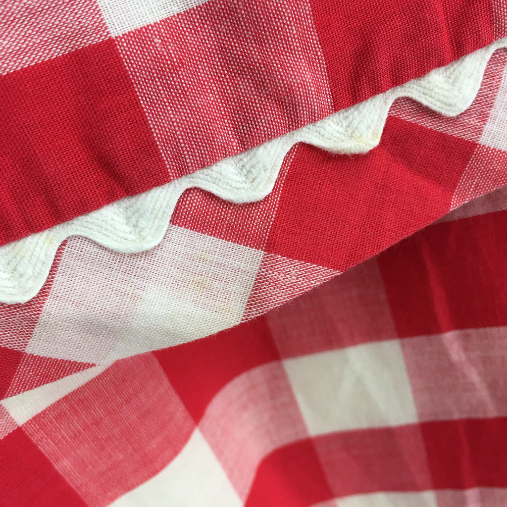 Vintage 60s Gingham Fit & Flair Dress, Detail
