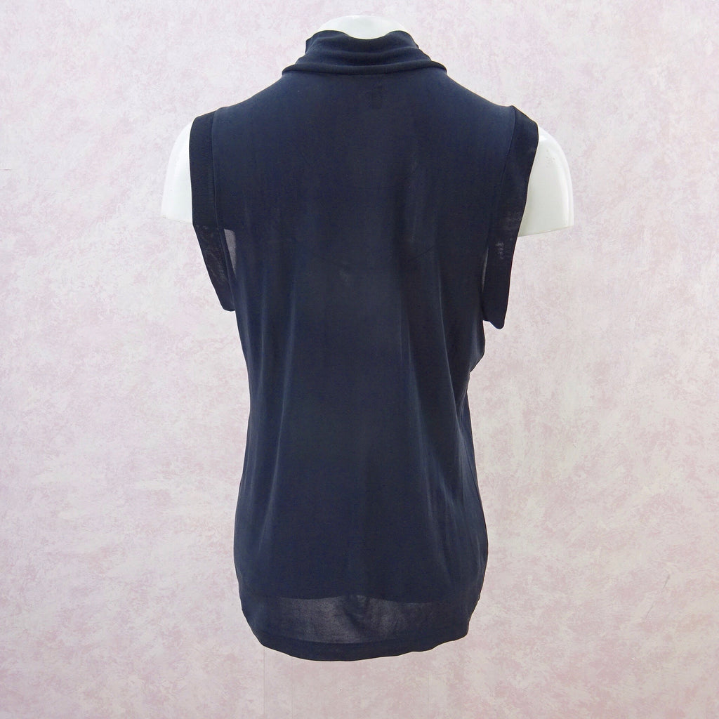 2000 DEAN SILK High Collar Silk Jersey Tank Top, b