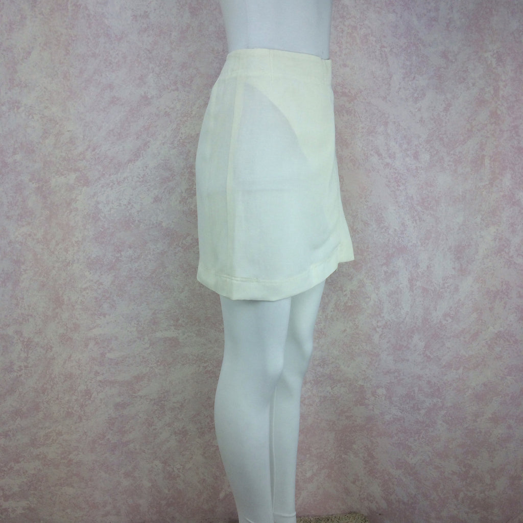Vintage 90s DONNA KARAN Linen Wrap Skirt, Side